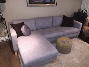 Ikea Sectional Sofa Couch Modern Grey