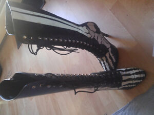 Skeleton Boots- Barely worn