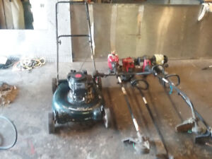 Lawnmower, whipper snippers, brush cutte