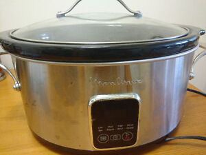 Slow cooker with timer