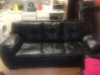 Dfs 3 seater leather sofa for sale