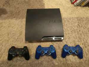 Playstation 3 Console complete with 3 controllers and 9 games