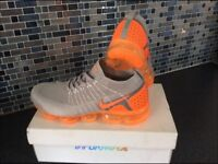 Nike Vapormax 2.0 U.K 7. Grey with Orange Crystal Sole NOW SOLD OUT