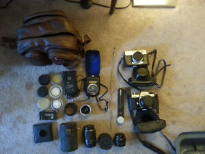 Older, nice 35mm cameras and equipment