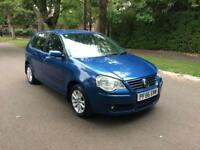 2007 VW POLO 1.4 S AUTOMATIC GEARBOX 5 DOORS BLUE CATEGORY N