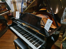 Kawai KG-1D baby grand piano black polyester for sale