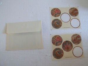 Vintage set of envelopes and stickers stationary