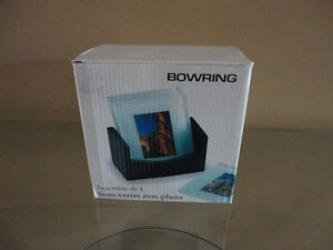 Brand new in box Bowring set of 4 glass photo coasters London Ontario image 1