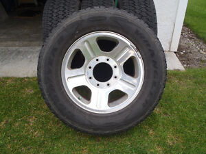 275 70 R18 Goodyear Silent Armour on Ford Rims