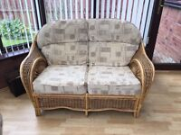 Two seater and One seater couches/conservatory furniture