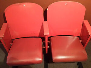 Wpg Jets Red Padded Seats #7+#8 from old Arena with Certificate