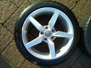 "Corvette staggered set - 19''/18"" rims/tires - $1800.00 Kitchener / Waterloo Kitchener Area image 8"