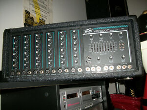 PEAVEY MIXER AMP XR600C * 6 CHANNELS*REVERB*EQUALIZER *LIKE NEW