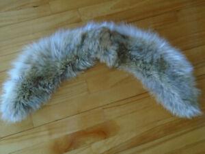 lot de col de fourrure ,lynx,  raton,  ,vison ,renard argenté,
