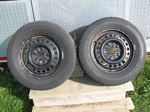 Four Winter Snow Tires On Steel Rims 215/60R15
