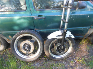 Honda forks and wheels with discs for only $150