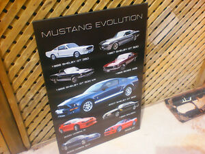 Ford Mustang Evolution Wood Picture London Ontario image 5