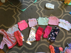 Baby girl clothes, size NB