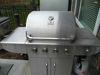 Stainless Steel 4 burner, electric ignitor natural gas bbq