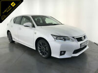 2012 62 LEXUS CT200 F SPORT AUTOMATIC SERVICE HISTORY FINANCE PX