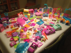 Polly Pocket Sets Pieces Animals Pets Accessories Doll Clothes