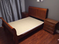Queen Bed Set With Two Night Tables