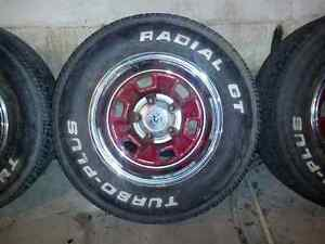 "14"" Chevrolet rims and tires 5 bolt"