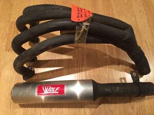 Echappement Wolf Racing header pipes