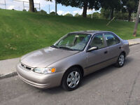 1999 TOYOTA COROLLA  , AUTOMATIQUE , AIR CLIMATISE , 1.8 LITRES