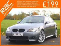 2007 BMW 5 Series 520d Turbo Diesel M Sport 6 Speed Auto Sat Nav Bluetooth Full