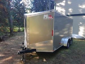 2017 7x14 tandem axle V nose enclosed trailer