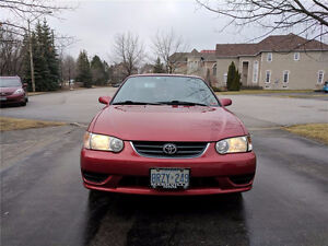 2001 Toyota Corolla: $1800