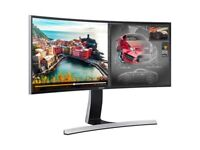 "Samsung S34E790C 34"" LED Ultra Wide Curved Monitor 3440x1440 HDMI Displayport"