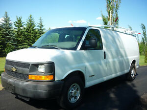 2003 Chevrolet Express 2500 Cargo Van, INSULATED, ROOF RACK