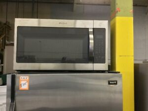 "**Whirlpool 30"" Stainless Steel Excellent Microwave**"