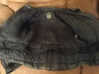 Leather motorbike jacket - size 50
