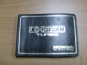 1983 HONDA CX650 TURBO OWNERS MANUAL
