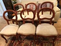 Solid dining chairs x 6