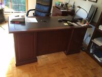 Office Desk, 2 Drawer Cabinet + 2 Bookcases