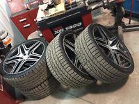 """Set de Mags et Pneus Hivers 22"""" 22pouces Mercedes Benz AMG ML GL"""