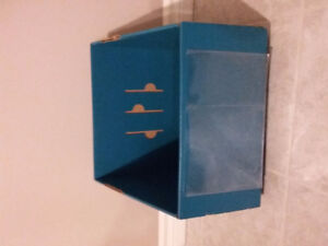 Ikea teal blue cardboard box container holder