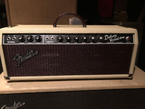 Fender '65 Deluxe Reverb Head (Limited Edition-Blonde/Oxblood)