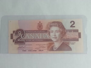 Uncirculated Canadian Two Dollars Banknote
