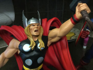 3 STATUES CAPTAIN AMERICA ,SILVER SURFER,THOR .ALL BY HARD HERO