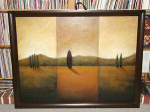"""BIG BROWN WOOD FRAMED PICTURE 49"""" x 38"""" (245 x 965 cm)"""