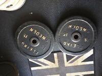 Eleiko 15kg bumper plates
