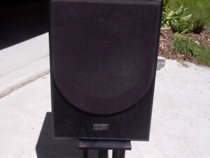SUBWOOFER AND CERWIN VEGA CENTER SPEAKER