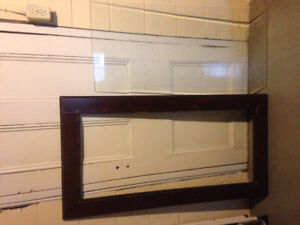 Large frame/table top with glass insert