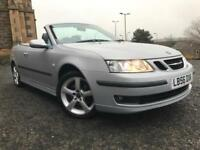 *3 MTHS WARRANTY*2006(56)SAAB 9-3 1.9 TID VECTOR SPORT CONVERTIBLE ONLY 85K*