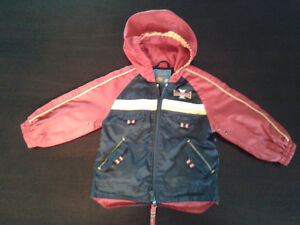 Red and navy blue spring/fall jacket in size 18 months